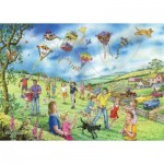 Puzzle  The-House-of-Puzzles-4807 Pièces XXL - Darley Collection - Let's Go Fly a Kite