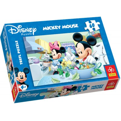 puzzle mickey cuisine trefl 17145 60 pi ces puzzles autres disney planet 39 puzzles. Black Bedroom Furniture Sets. Home Design Ideas