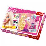 Puzzle  Trefl-17224 Barbie - Journée de shopping