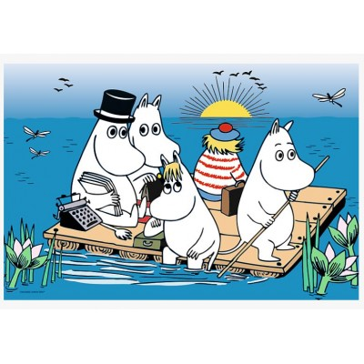 Puzzle Trefl-17352 Moomins at the lake
