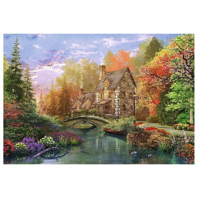 Puzzle Trefl-26136 Dominic Davison : Cottage by the Lake