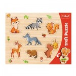 Trefl-31307 Puzzle Cadre - Animaux de la Forêt