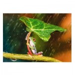 Puzzle  Trefl-37288 Green Umbrella