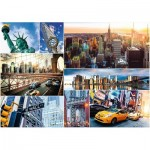 Puzzle  Trefl-45006 Collage - New York