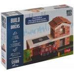 Puzzle  Trefl-60983 Build with Bricks - La Caserne des Pompiers