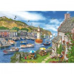Wentworth-682702 Puzzle en Bois - Dominic Davison : The Village Harbour