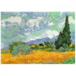 Wentworth-720904 Puzzle en Bois - Van Gogh - Wheat Field with Cypresses