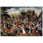 Wentworth-760904 Puzzle en Bois - Brueghel - The Village Festival