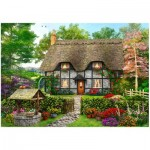 Wentworth-801902 Puzzle en Bois - Meadow Cottage