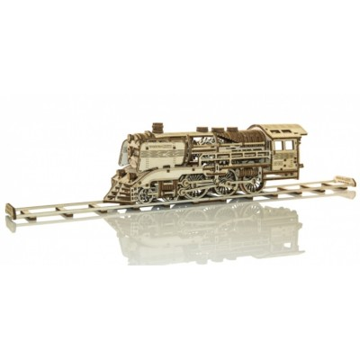 Wooden-City-WR321-8381 Puzzle 3D en Bois - Wooden Express + Rails