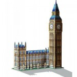 Wrebbit-3D-34504 Puzzle 3D - Londres : Big Ben et Parlement