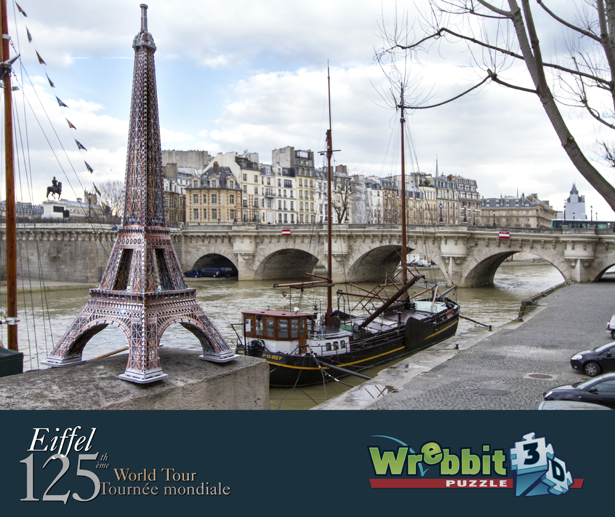 puzzle 3d paris la tour eiffel wrebbit 3d 2009 816 pi ces puzzles monuments planet 39 puzzles. Black Bedroom Furniture Sets. Home Design Ideas