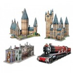 Wrebbit-Set-Harry-Potter-1 4 Puzzles 3D - Set Harry Potter