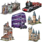 Wrebbit-Set-Harry-Potter-2 6 Puzzles 3D - Set Harry Potter