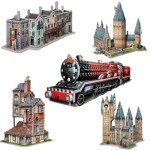 Wrebbit-Set-Harry-Potter-3 5 Puzzles 3D - Set Harry Potter